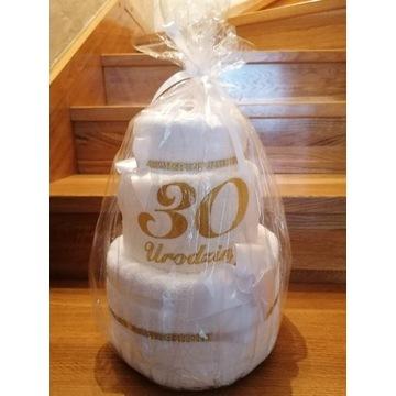 Tort z ręczników 30urodziny prezent