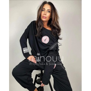 Bluza czarna Minouu FOLLOW ME Comfy set Lynda