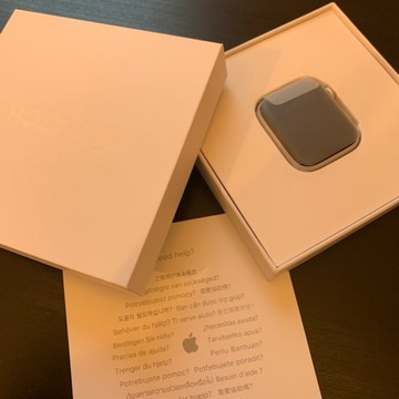 APPLE Watch Series 4 44mm Silver Black Friday NOWY