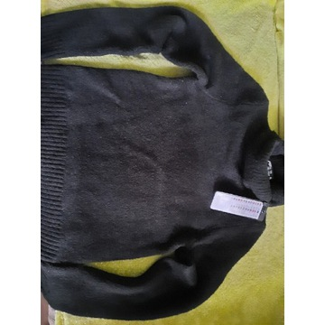 Sweterek golf damski czarny xxs