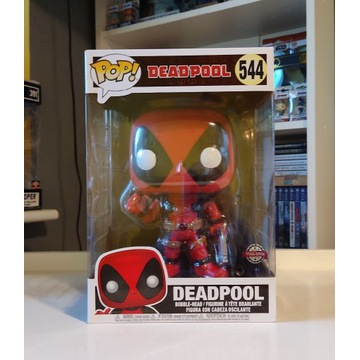 FUNKO POP ! Deadpool Thumbs Up Red 544 Exclusive