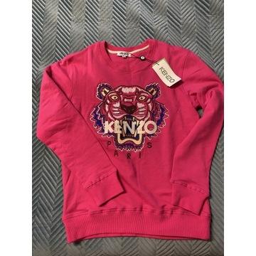 Bluza nowa Kenzo tygrys tiger L róż fuksja logo