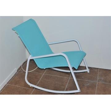 Stalowe krzesło bujane COINCASA blue 81x56x75 cm