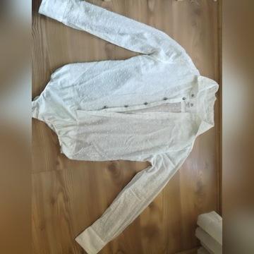 Białe body koszula w kropeczki Bagutta Milano