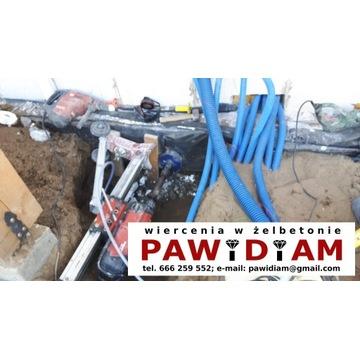 Wiercenie otworów w betonie, żelbecie PAWiDiAM
