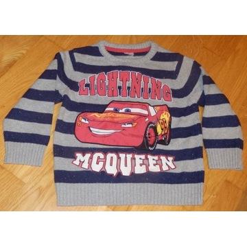 Sweter dla chłopca sweterek ZygZak auta 104-110
