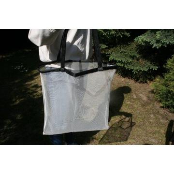 siatka eko torba na przyłbice zakupy oczka tiul2w1