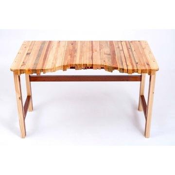 Niepowtarzalne drewniane BIURKO z listewek