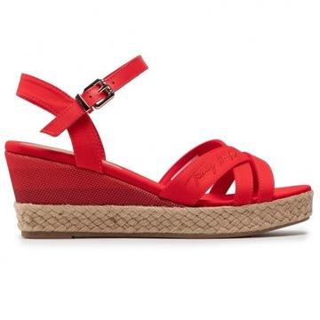 Sandały Tommy Hilfiger FW0FW05627 Czerwone r. 39