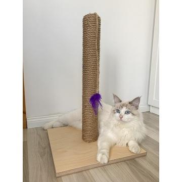 Drapak dla kota z liny jutowej