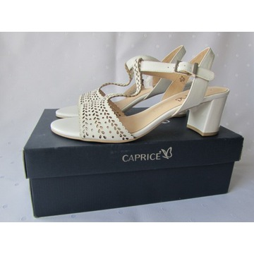 Sandały skórzane białe CAPRICE rozmiar 41