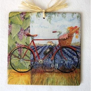 Obrazek na kafelku 15x15cm Rower