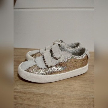 Sportowe buty trampki złote ZARA r.25
