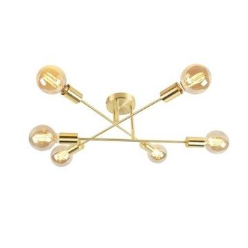 Lampa sufitowa złota 6-punktowa - Sydney Bondi
