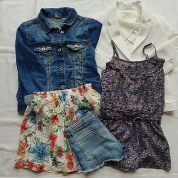 Komplet/zestaw ubrań dla dziewczynki, rozmiar 140