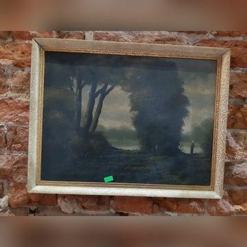 """obraz """"las"""" olej na płótnie"""