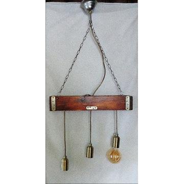 Lampa wisząca drewniana (belka)