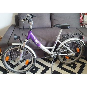 Rower Pegasus dla dziewczynki, koła 20,amortyzator