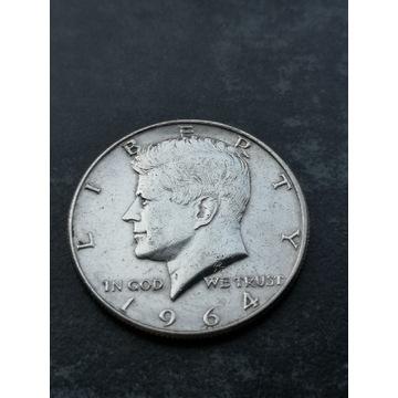 Half dollar 1/2 1964r. Kennedy srebro USA