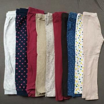 Ciepłe spodnie do przedszkola leginsy 98/104 10szt