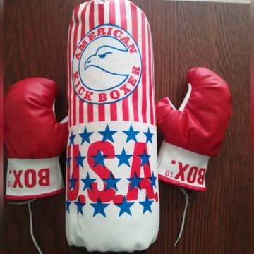 Zestaw bokserski dla dzieci worek i rękawice
