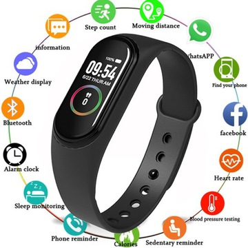 Smartband-zegarek,  kalorie, puls, krokomierz itp