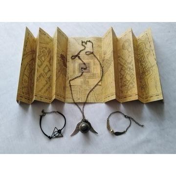 Mega zestaw Harry Potter mapa zegarek biżuteria