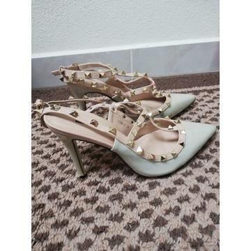 Buty sandały obcas rozm 38