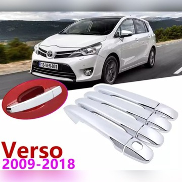 Nakładki chromowane na klamki Toyota Verso