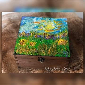Skrzyneczka ręcznie malowana