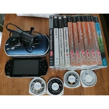 Konsola sony PSP duży zestaw z grami