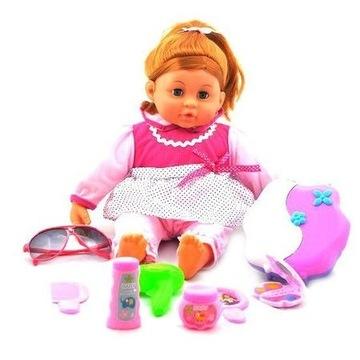 duża piękna lalka interaktywna 12 piosenek zestaw