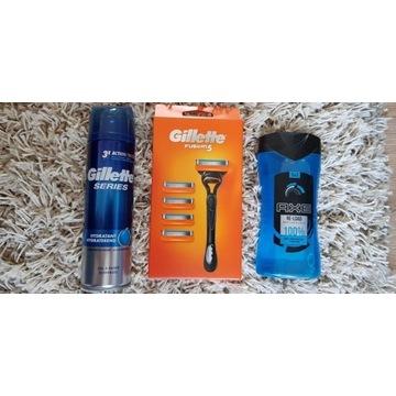 Zestaw Gilette Fusion 5 + Żel do golenia/prysznic
