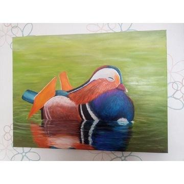 """Obraz malowany ręcznie """"Mandarynka"""""""