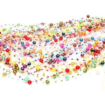 GIRLANDA perłowa perły 18sztuk MIX kolor 2400 cm