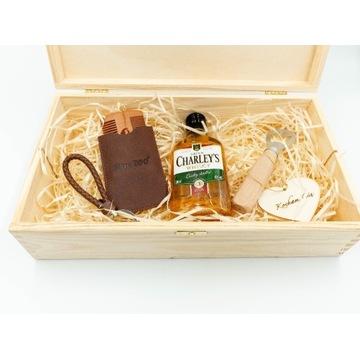 Drewniany Gift Box dla niego walentynkowy prezent