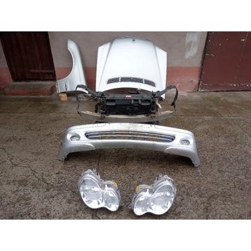 Mercedes W203 maska zderzak błotnik wzmocnienie pr