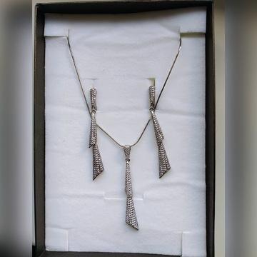 Komplet srebrnej biżuteri p 925