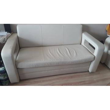 Sofa/Kanapa ekoskóra Funkcja spania - używana. BDB