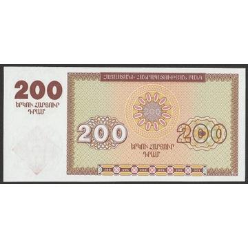 Armenia 200 dram 1993 - stan bankowy UNC