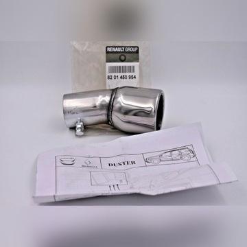 Chromowana końcówka rury wydechowej 45mm firmowa