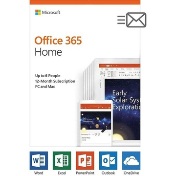 Microsoft Office 365 Home | Family - 6 Users, 1 Yr