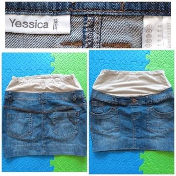 Jeansowa spódnica ciążowa 40 L YESSICA
