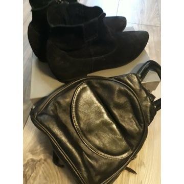 Buty typu kowbojki + plecaczek