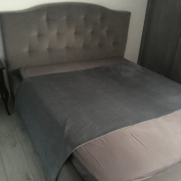 Łóżko Rococo 160x200 Stelaż Szare Gray Materac