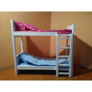 Łóżko piętrowe drewniane dla lalki,lalek