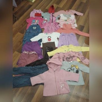 Paka ubrań dla dziewczynki 74-92 cm 115 szt