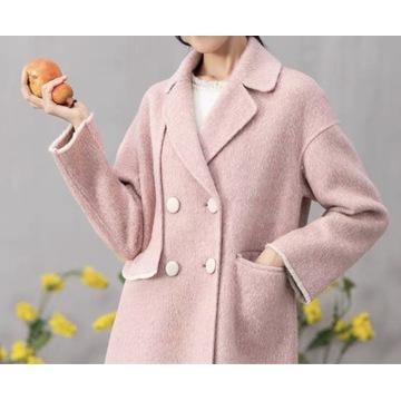 Jesienno-zimowy wełniany płaszcz