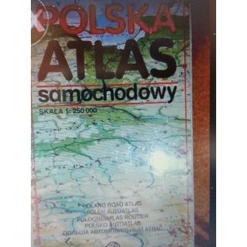 POLSKA ATLAS SAMOCHODOWY MAPA
