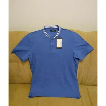 Koszulka polo męska niebieska XL nowa Bytom